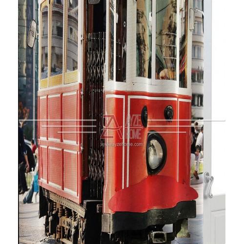 Salon - Nostaljik Tramvay - Baskılı Fon Perde