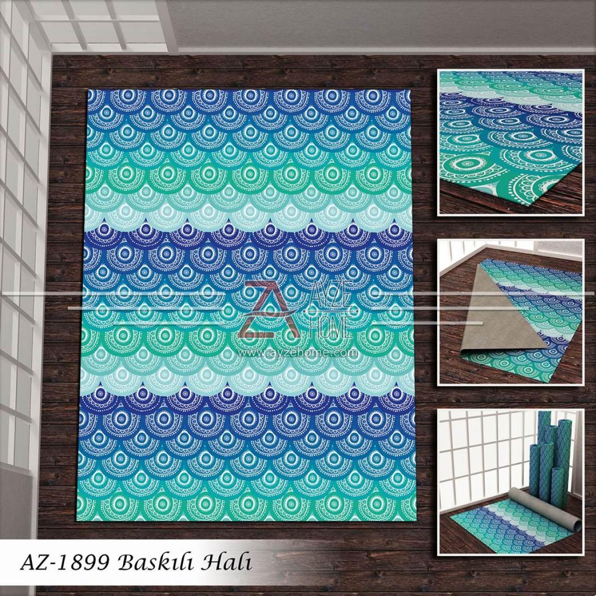 Salon - Geometrik Baskılı Halı