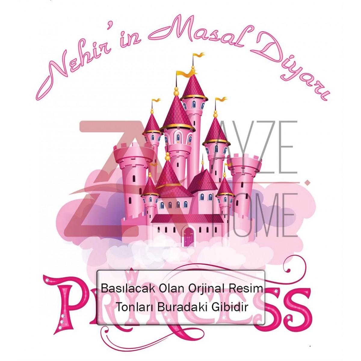 Kız Çocuk Odası - Prensesin Şatosu Baskılı Halı