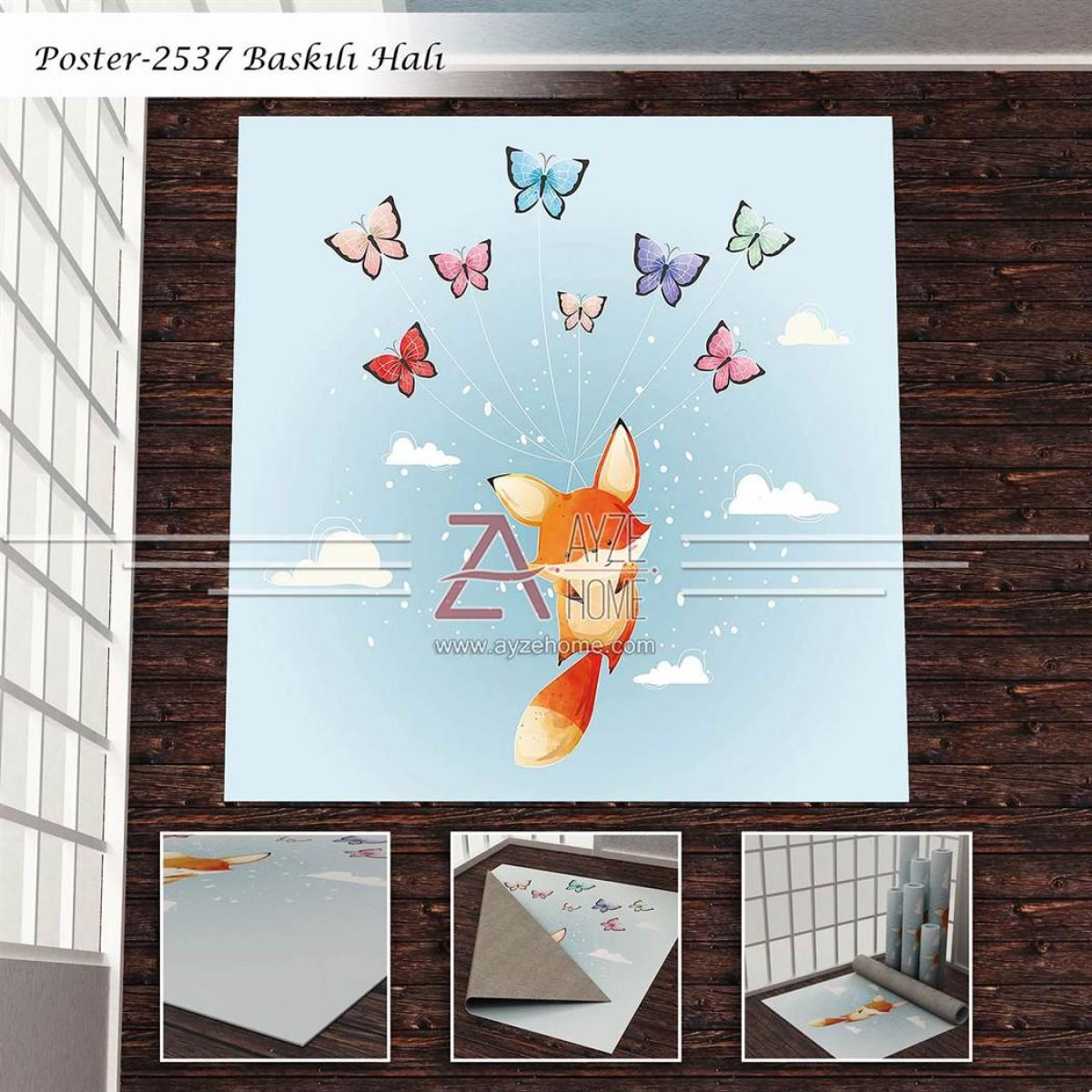 Bebek Odası - Uçan Tilki Baskılı Halı