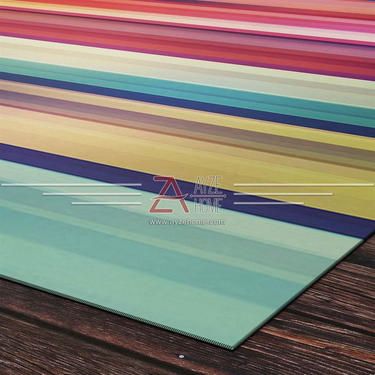 Salon - Genç Odası - Renk Akışı Baskılı Halı