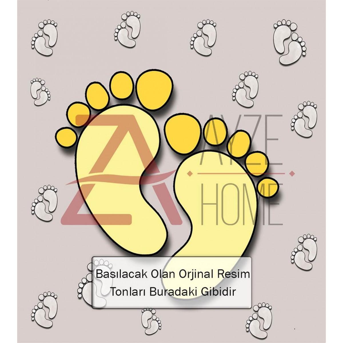 Bebek Odası - Ayak İzi Baskılı Halı
