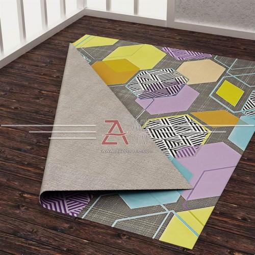 Salon - Geometri Baskılı Halı