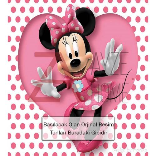 Kız Çocuk Odası - Mini Mouse Baskılı Halı