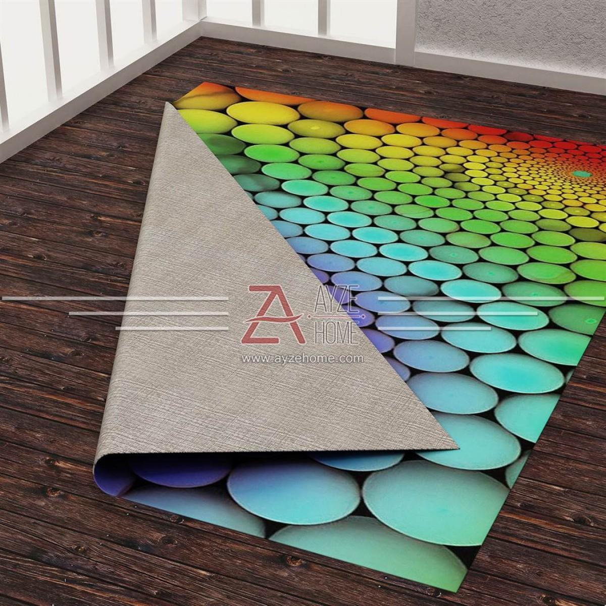 Genç Odası - Renkli Toplar 3D Baskılı Halı