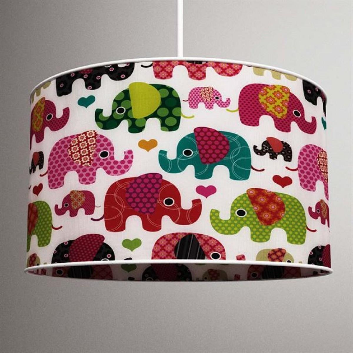 Renkli Filler Erkek Çocuk Odası Baskılı Avize