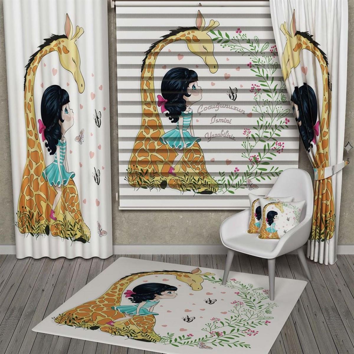 Çocuk Odası - Sevimli Zürafa Kombinli Set Ürünler