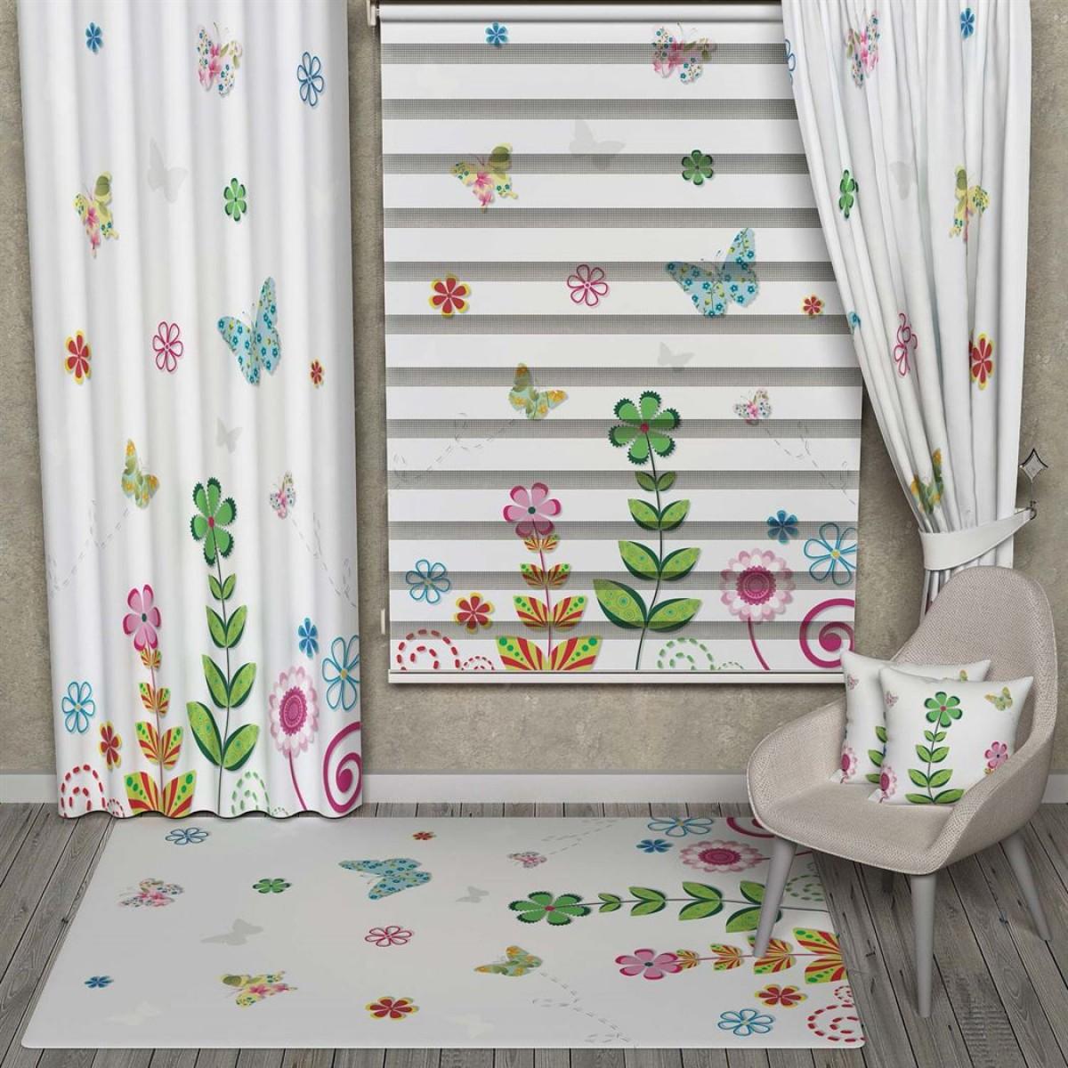 Yatak Odası - Kelebekler ve Çiçekler Kombinli Set Ürünler
